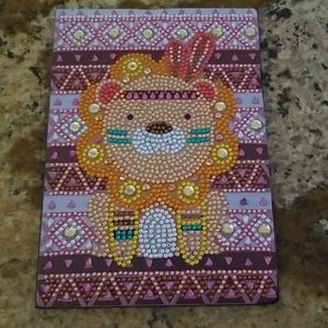 Jeweled Lion Soft Leather Notebook/journal NWOT